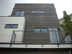 2nd & 3rd Story (front) (Heath & the B.L.T. boys) Tags: seattle brown house inspiration architecture modern beige decorate