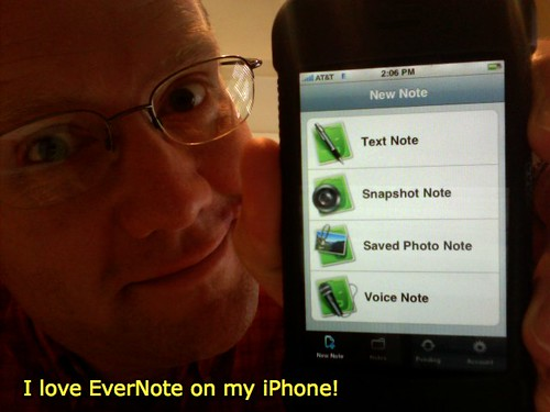 I love EverNote on my iPhone!
