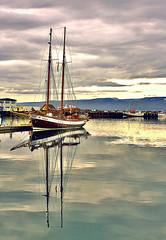 Hsavik harbour (maroma) Tags: sea water boat iceland islandia agua barco ship reflect reflejo artic rtico hsavik abigfave platinumphoto anawesomeshot aplusphoto platinumheartawards goldstaraward