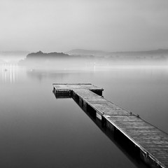Hollingworth Lake (Corica) Tags: uk longexposure greatbritain england blackandwhite bw lake water fog nikon northwest jetty lancashire gb lanscape rochdale d300 hollingworthlake corica dapagroupmeritaward nikond300 lakehollingworth