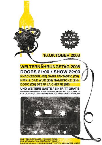 LIVE im HIVE_plakat