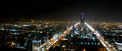 Kingdom Tower (ksuwildkat) Tags: skyline riyadh ksa saudiarabia kingdomofsaudiarabia kingdomtower night city middleeast panoramafotogrfico panasonicfz8 100views