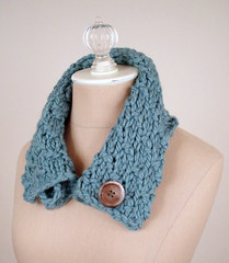 Pale Teal Cowl / Neckwarmer (phydeaux designs) Tags: winter scarf knitting warm soft knit merinowool womens ladys accessories knitted collar oversized neckwarmer accessory cowl scarflette phydeaux lightteal vintagemotherofpearlbuttons twistedpurl softteal phydeauxdesigns warmbluegreen purltwist