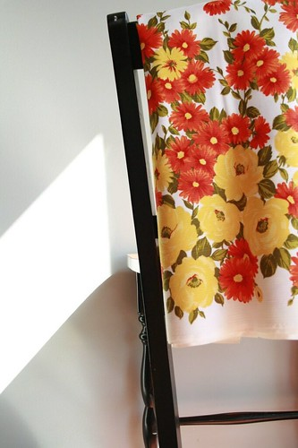 3 yards vintage floral fabric