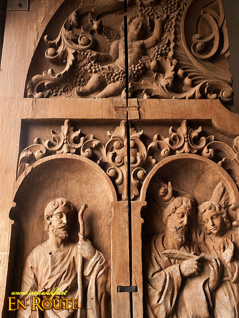 Boac Cathedral Door Engravings