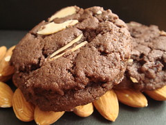 Vegan Chocolate Almond Cherry Cookie
