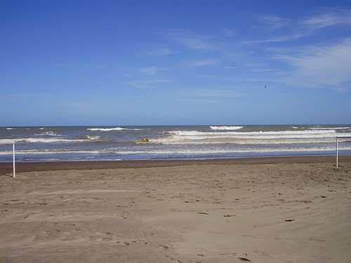 The beach at Pinamar