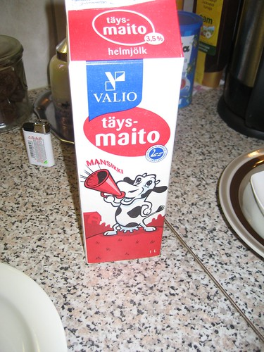 Traditional Christmas Morning Food- whole milk for puuro