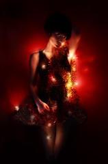 l h (kT LindSAy) Tags: christmas xmas girl lights christmastree tinsel fairylights flicker ktlindsay