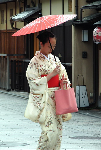 A Japanese lady in kimono