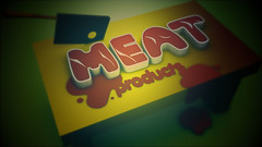 Meat Products (sketchy pictures) Tags: food cinema cooking illustration logo table typography design 3d graphics meat 4d