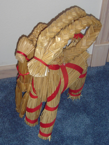 Swedish Straw Christmas Goat