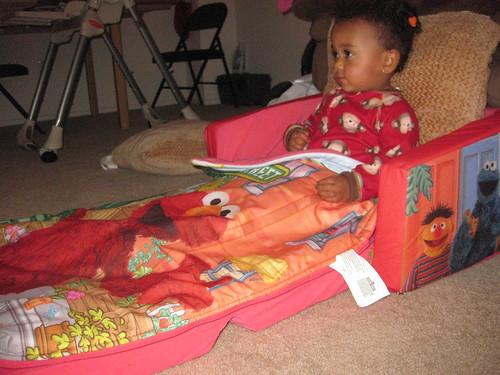 Maya watching TV