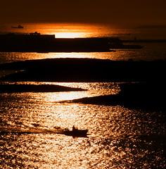 our share of night (gicol) Tags: light sea sunrise dark boat barca mare alba harbour porto salento puglia luce buio brindisi apulia favemegroup3 theunforgettablepictures