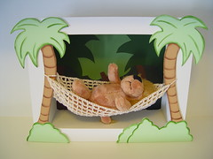 Cenrio decorativo leo na rede (DO 0015) (Pipe e Guca Decorao Infantil) Tags: macaco cenrio decorao leo mdf lembrancinha lembrancinhas decoraoinfantil quadromaternidade quadroinfantil bichinhosdafloresta bichopelcia