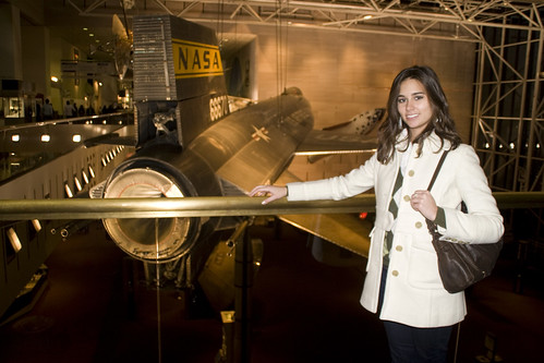 Jo with one of the cool jets