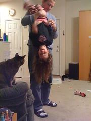 Upsidedown Jocelyn (amysanders) Tags: kids upsidedown jocelyn ethan