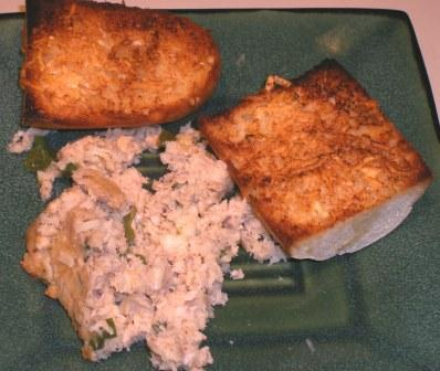 Wartime Wednesday:  Salmon Loaf with Garlic Bread