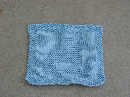 Ice Skate Dishcloth