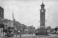 High St. Epsom, Clocktower ca 1910 (tedesco57) Tags: street england high surrey clocktower epsom