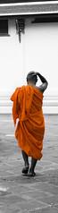 Moine  Bangkok (Jerome Mercier) Tags: voyage leica orange bangkok asie tourisme thailande asiatique bonze sejour bangkokcity leicadigilux3 jeromemercier jeromemercierphoto jmbook bookjm voyageenthailande voyageasie sejourasie urbanismebangkok urbanismeasie villebangkok capitalethailande peupleasie cultureasiatique peupledasie architectureasie sejourthailande taihlande tailhande sejourbangkok voyagebangkok