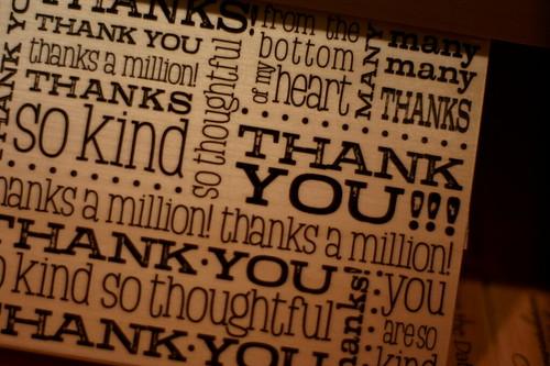 Thank You Again and Again...and - AGAIN