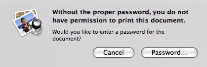 Non-printable Nikon manuals are password-protected
