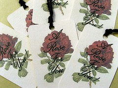 A Rose For You Tags x 6 (darlingdillydilly) Tags: birthday wedding red flower love rose collage set vintage scrapbooking thankyou cottage cream tags valentines labels etsy pricetag digitalcollage artfire hangtag shabbychic misi papergoods dawanda darlingdillydilly