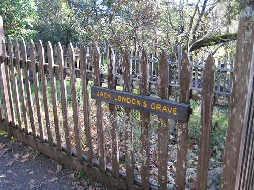 Jack London's grave