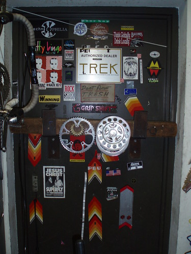 bike shop door