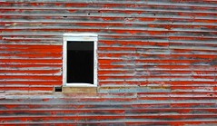 The Red Barn Landscape (pbruch) Tags: window barn ruin peelingpaint barnboard 5dmk2ii 5dmark2ii