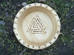 Asatru Blot Bowl (dragonoak) Tags: bowl viking runes blot valknut asatrul
