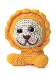 (slip stitch) Tags: cute art animal yellow toy design stuffed handmade character crochet decoration lion craft plush yarn softie kawaii amigurumi