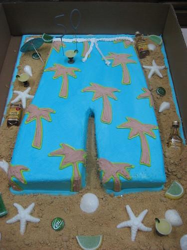 Board Shorts Cake