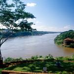 Three countries border-Iguazú & Paraná rivers