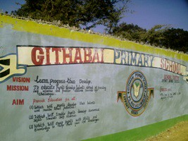 Indgangsportalen til Githabai Primary School