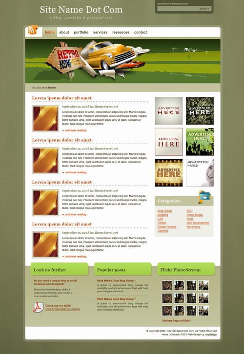 TealGray Retro   Premium WordPress Theme