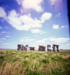 (hopefuldoubtful) Tags: nebraska pinhole carhenge velvia50 autaut