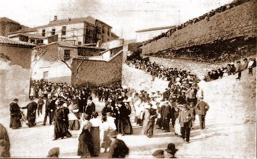 Final de la Procesión Cívica con motivo de la inauguración del monumento a El Greco el 7 de abril de 1914.