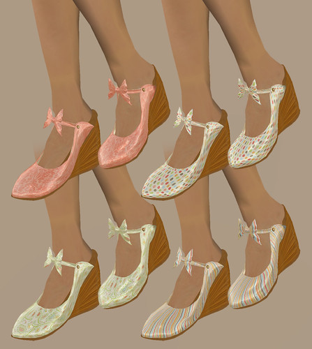 Orchid Dreams - SaSa Wedge Shoes
