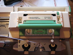 Knitting machine - carriage