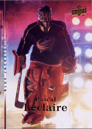 Pascal Leclaire, Columbus Blue Jackets, Upper Deck 07-08 series 2 two, hockey, hockey card