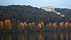 Regensburg: Walhalla: From the Danube (bill barber) Tags: regensburg ratisbon ezno castra regina bavaria germany danube bavarian upper palatinate allemagne alemania franconia main frankonia tyskland alemanha bundesrepublik  duitsland germnia germania deutsche doitsu saksa niemcy nemecko nmetorszg njemaka njemacka deutschland lallemagne bill barber william walhalla hall fame honor honour neoclassical ludwig i commemoration ethnic germanic bust temple parthenon frieze plaque ithinkthisisart theperfectphotographer flickrdiamond mywinners ysplix artisticexpression theicelandersnorristurluson thebooksnorraedda edda valholl satrasatruinicelandic vikings norse asatru odin diamondclassphotographer