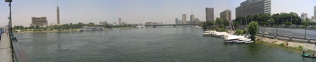 Kairo - panoráma a Nílus fölött