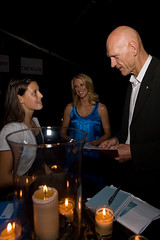 Earth Hour 2008 - Parrys Raines, Tracey Spicer and Peter Garrett
