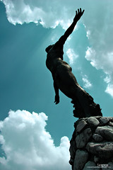 : oblation (audiOscience!) Tags: up silhouette clouds asia philippines statues bluesky manila southeast diliman oblation sculptures luzon quezoncity universityofthephilippines flickrexplore canonpowershots3is upoblation flickrchallengewinner larawangpinoy audioscience sangoyo paligsahanlitratistakami christianlucassangoyo