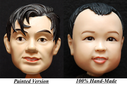 Different Between Painted & 100% Hand-Made Bobblehead Figurine