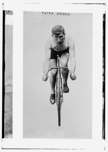 Peter Drobach [on bike] 12/5/12 (LOC)