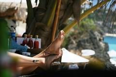 ? (M3R) Tags: bali feet beach tattoo canon indonesia foot candid questionmark ankle dreamland canonef28105mmf3545usm 400d photofaceoffwinner mariaismawi