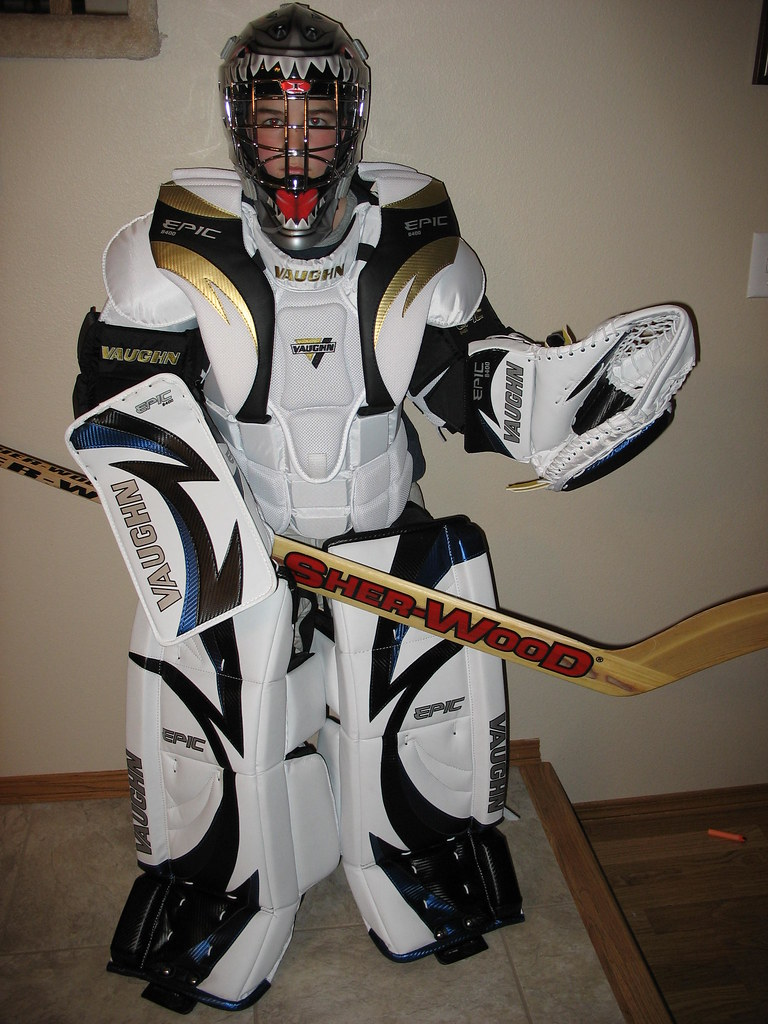 New goalie equipment